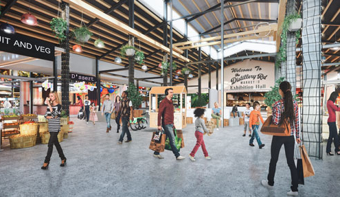 Distillery Road Market site in Beenleigh - internal view
