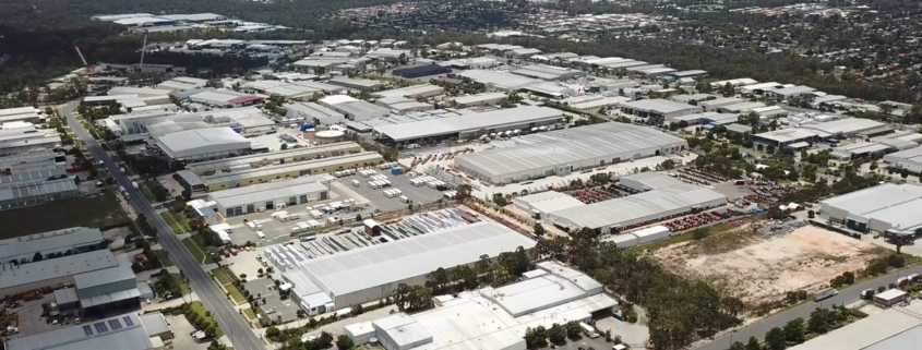 Logan Industrial estate as viewed from the air