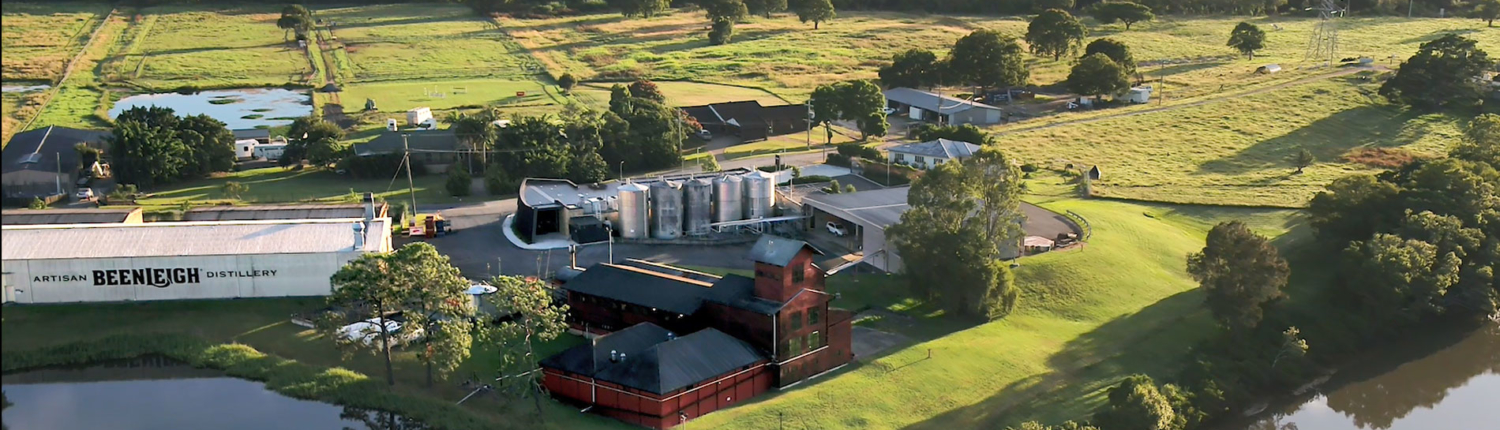 View of buildings at Beenleigh Distillery