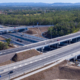 Newly buily Logan Motorway bridges and on ramps