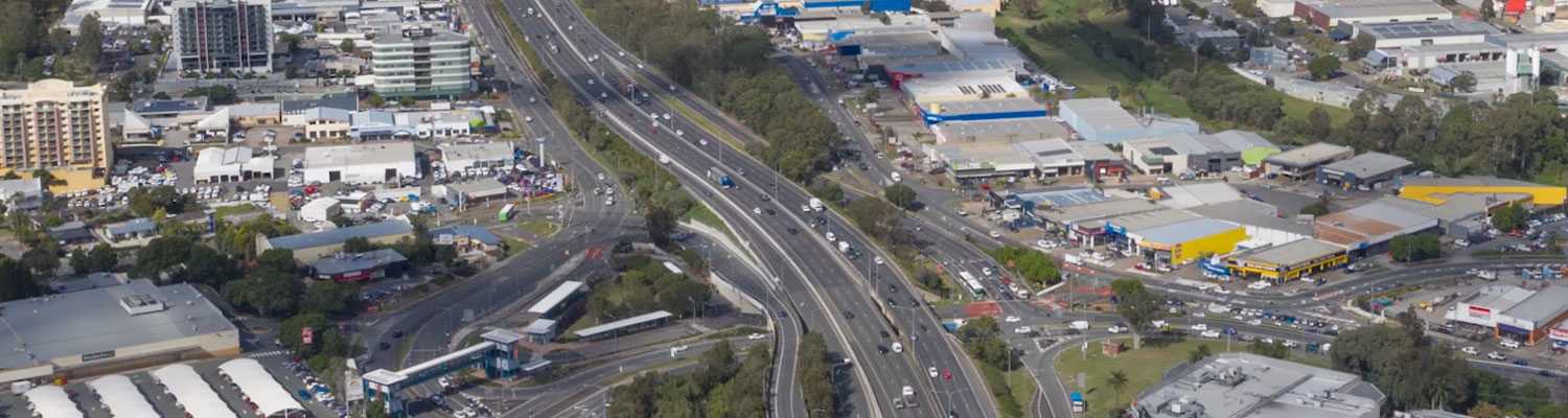 M1 Highway that runs through Springwood