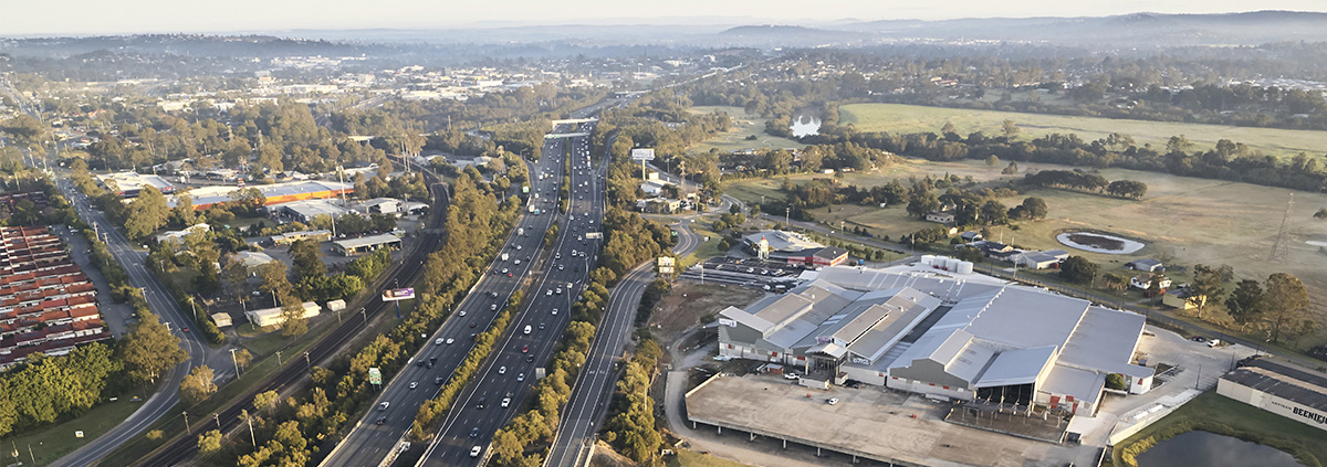 Overhead view of Zarraffas HQ redevelopment at Beenleigh