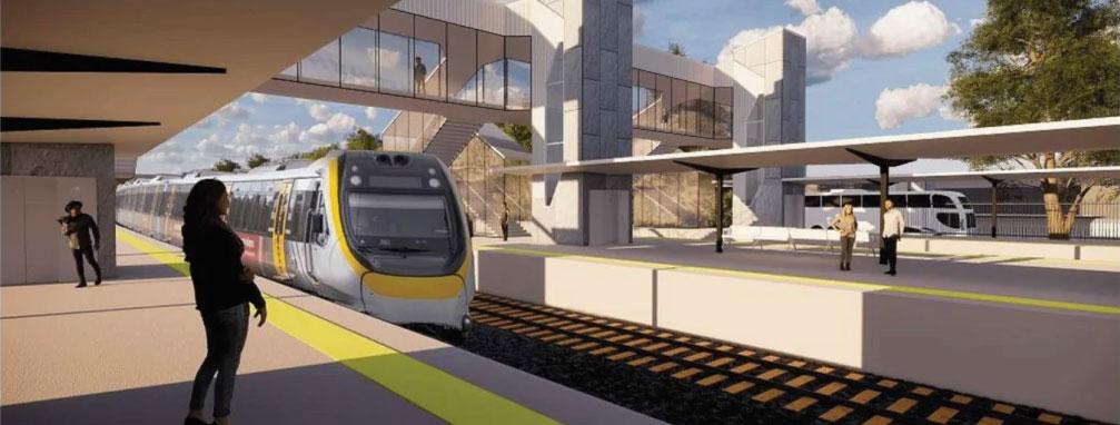 Artists impression of a new Loganlea Station