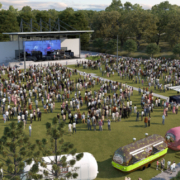 Artists impression of Kingston Butter factory outdoor events space