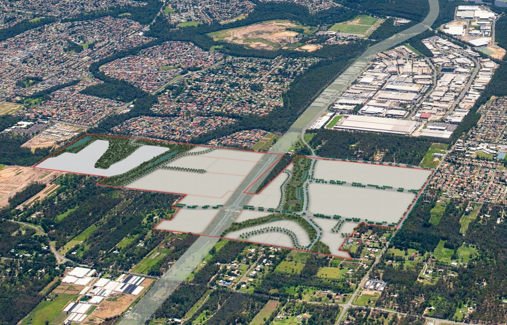 Crestmead Logistics Estate Aerial view
