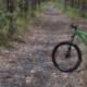bike on path in the bush