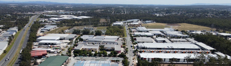 Aerial photo of industrial precint in Meadowbrook