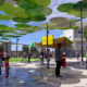 Artists impression of shade solution discs at Beenleigh Town Square
