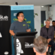 Vu Tran speaking at launch function