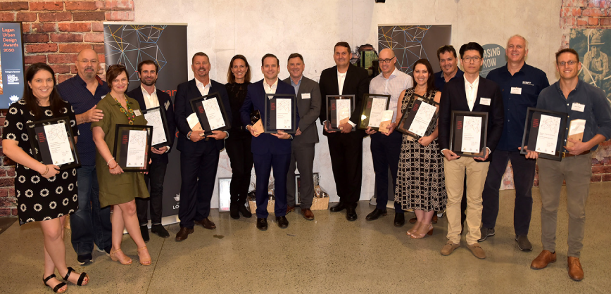 Photo of LUDA 2020 Winners with certificates