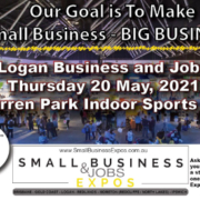 Logan Business and Jobs Expo logo and picture of expo