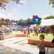 Artists render of a future Logan Central community area