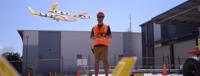 Wing technician tests a drone